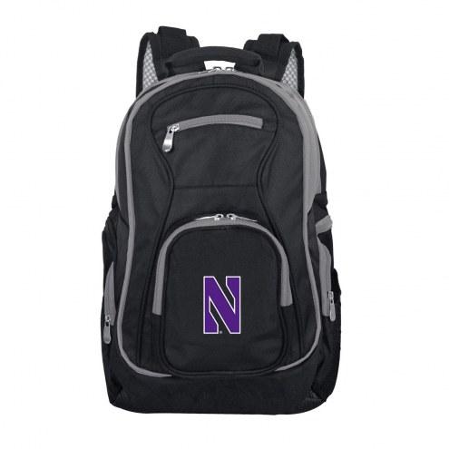 NCAA Northwestern Wildcats Colored Trim Premium Laptop Backpack