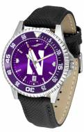 Northwestern Wildcats Competitor AnoChrome Men's Watch - Color Bezel