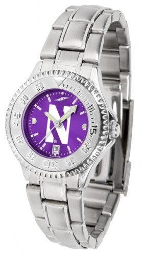 Northwestern Wildcats Competitor Steel AnoChrome Women's Watch