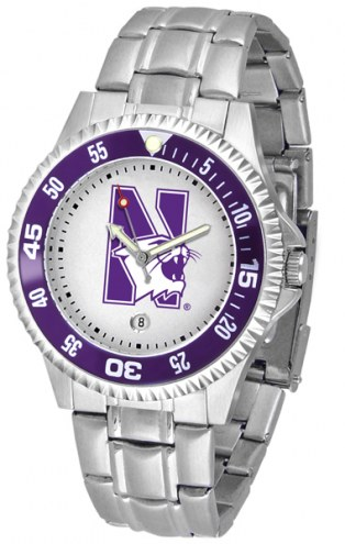 Northwestern Wildcats Competitor Steel Men's Watch