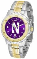 Northwestern Wildcats Competitor Two-Tone AnoChrome Men's Watch