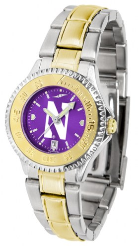 Northwestern Wildcats Competitor Two-Tone AnoChrome Women's Watch