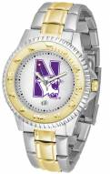 Northwestern Wildcats Competitor Two-Tone Men's Watch