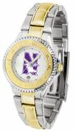 Northwestern Wildcats Competitor Two-Tone Women's Watch