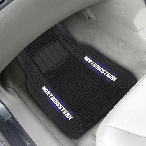 Northwestern Wildcats Deluxe Car Floor Mat Set