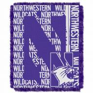 Northwestern Wildcats Double Play Woven Throw Blanket