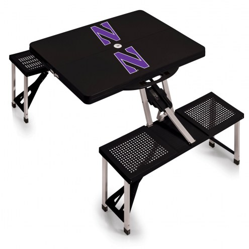 Northwestern Wildcats Folding Picnic Table