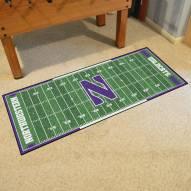 Northwestern Wildcats Football Field Runner Rug