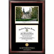 Northwestern Wildcats Gold Embossed Diploma Frame with Lithograph