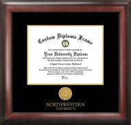Northwestern Wildcats Gold Embossed Diploma Frame