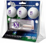 Northwestern Wildcats Golf Ball Gift Pack with Kool Tool