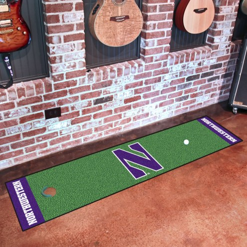 Northwestern Wildcats Golf Putting Green Mat
