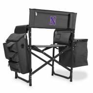 Northwestern Wildcats Gray/Black Fusion Folding Chair