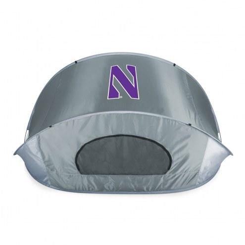 Northwestern Wildcats Gray Manta Sun Shelter
