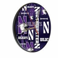 Northwestern Wildcats Digitally Printed Wood Clock