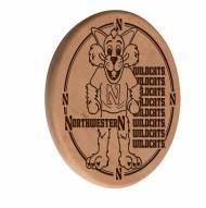 Northwestern Wildcats Laser Engraved Wood Sign