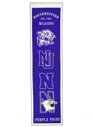 Northwestern Wildcats Heritage Banner