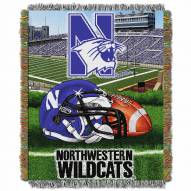 Northwestern Wildcats Home Field Advantage Throw Blanket