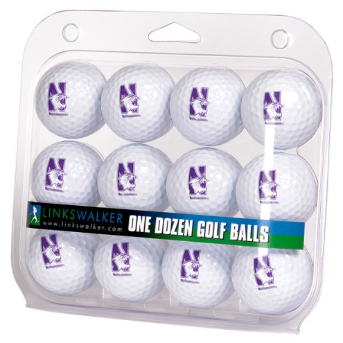 Northwestern Wildcats Dozen Golf Balls