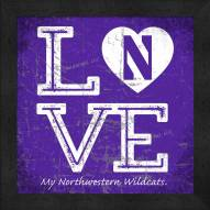 Northwestern Wildcats Love My Team Color Wall Decor