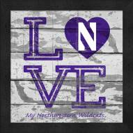 Northwestern Wildcats Love My Team Square Wall Decor
