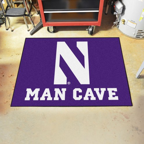 Northwestern Wildcats Man Cave All-Star Rug