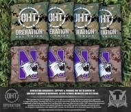 Northwestern Wildcats Operation Hat Trick Cornhole Bag Set