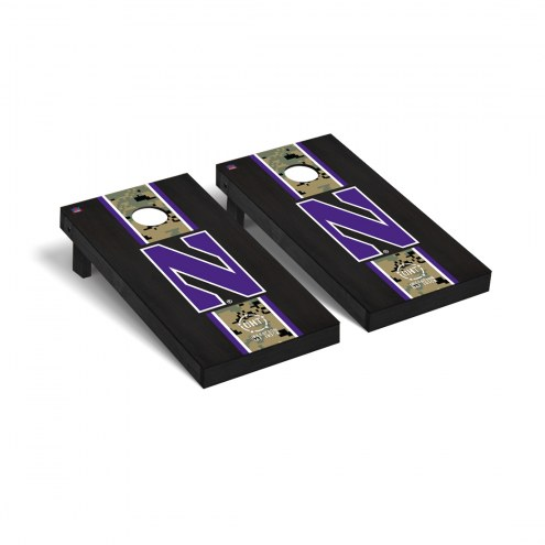 Northwestern Wildcats Operation Hat Trick Stained Cornhole Game Set