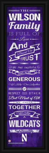 Northwestern Wildcats Personalized Family Cheer Framed Art