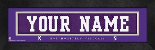 Northwestern Wildcats Personalized Stitched Jersey Print