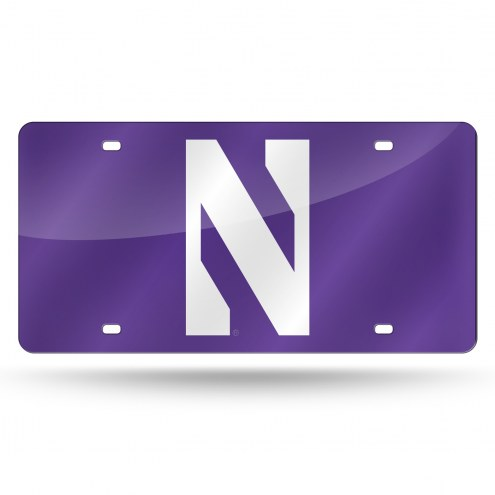 Northwestern Wildcats Laser Cut License Plate
