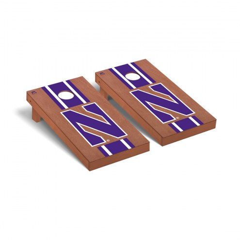 Northwestern Wildcats Rosewood Stained Cornhole Game Set