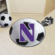Northwestern Wildcats Soccer Ball Mat