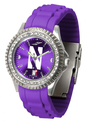 Northwestern Wildcats Sparkle Women's Watch