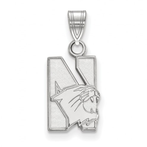 Northwestern Wildcats Sterling Silver Small Pendant