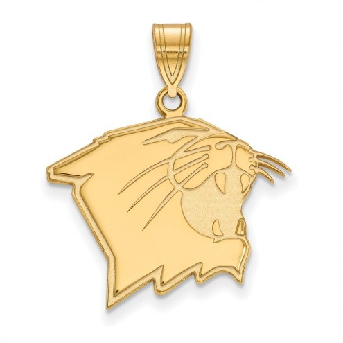 Northwestern Wildcats Sterling Silver Gold Plated Large Pendant