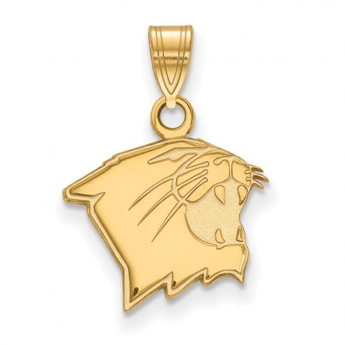 Northwestern Wildcats Sterling Silver Gold Plated Small Pendant