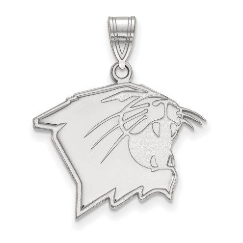Northwestern Wildcats Sterling Silver Large Pendant