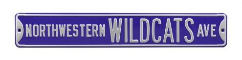 Northwestern Wildcats Street Sign