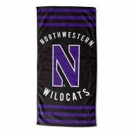Northwestern Wildcats Stripes Beach Towel
