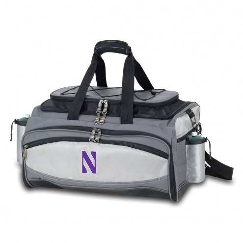 Northwestern Wildcats Vulcan Cooler & Propane Grill