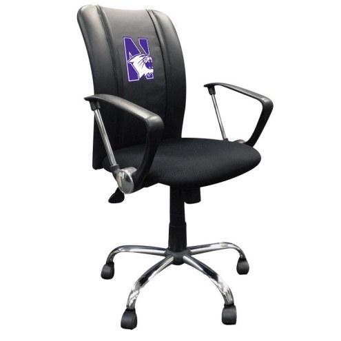 Northwestern Wildcats XZipit Curve Desk Chair