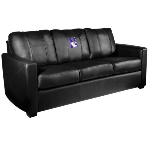 Northwestern Wildcats XZipit Silver Sofa