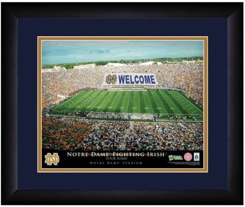 Notre Dame Fighting Irish 13 x 16 Personalized Framed Stadium Print