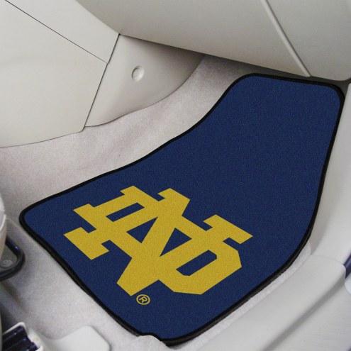 Notre Dame Fighting Irish 2-Piece Carpet Car Mats
