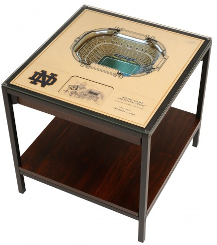Notre Dame Fighting Irish 25-Layer StadiumViews Lighted End Table