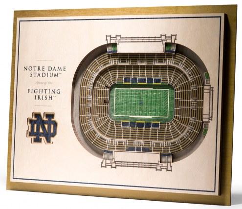 Notre Dame Fighting Irish 5-Layer StadiumViews 3D Wall Art
