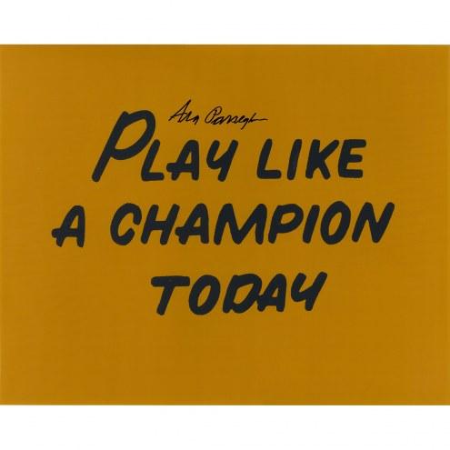 "Notre Dame Fighting Irish Ara Parseghian Play Like a Champion Today Signed 16"" x 20"" Photo"