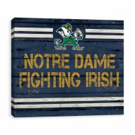 Notre Dame Fighting Irish Rustic Banner Large Logo Printed Canvas