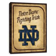 Notre Dame Fighting Irish Vintage Card Printed Canvas